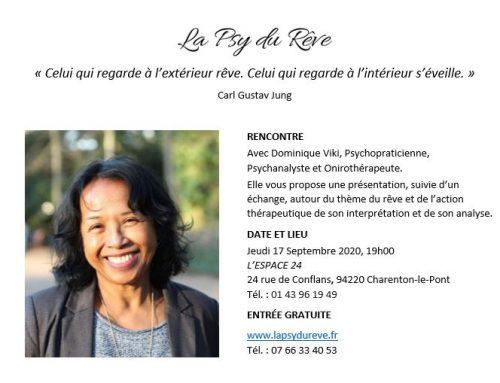 Présentation de l'Onirothérapie – 17 septembre – Charenton-le-Pont